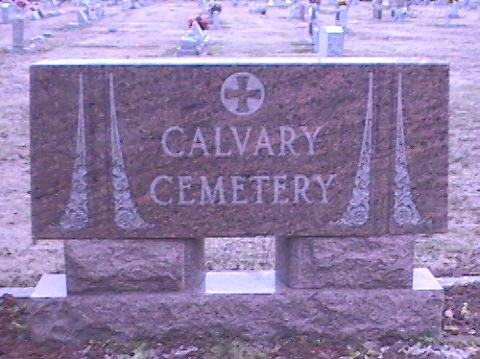 Photograph of Calvary Cemetery Marquee